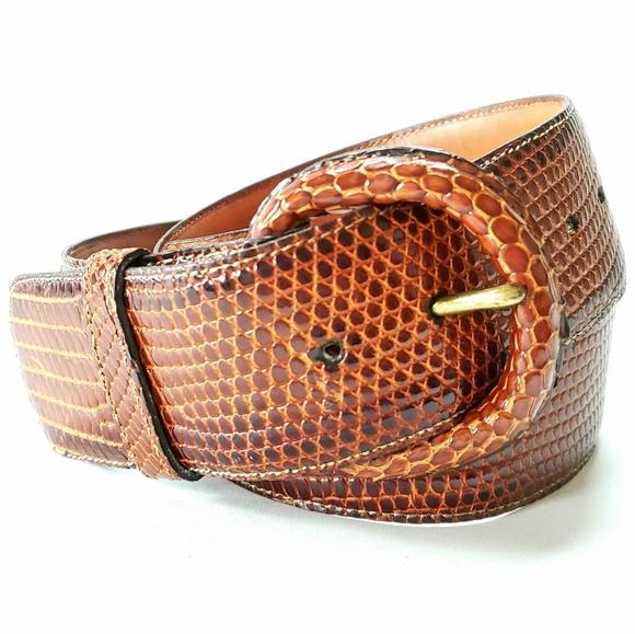 Torino accessories calcutta lizard leather belt size 32 for Banana republic torino